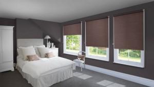 кофейные рулонные шторы для спальни