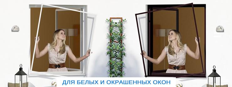 москитные сетки для белых и окрашенных окон